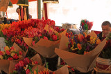 Selling flowers at the Pike Place Market