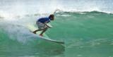 Surfing at Remanso Beach