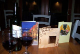 Cards and wine