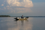 A Crabber on Lake des Allemands at Evening Tide