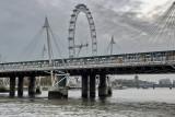 Hungerford Bridge and London Eye