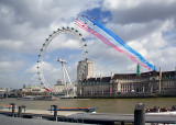 The Red Arrows Fly Past