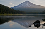 Trillium Lake With A View Of Mount Hood At 6:10 A.M.