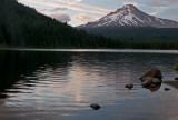 Trillium Lake With A View Of Mount Hood At 8:27 PM
