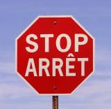 A Bilingual Road Sign