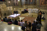 Service at the Annunciation Cathedral in Nazareth (Israel)