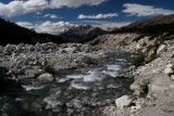 we drank water from glacial rivers