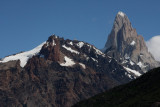 top of Mount Fitz Roy is clear now