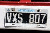 Argentinian number plate