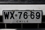 Chilean number plate