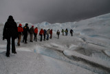 walking on Perito Moreno glacier