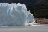 ice breaking off Moreno Glacier 2/3