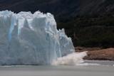 ice breaking off Moreno Glacier 3/3