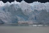 ice breaking off Moreno Glacier 3/4