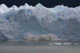 ice breaking off Moreno Glacier 4/4