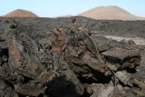 black solidified lava flow circa 100 years old