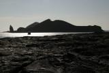 view onto Pinnacle Rock on island of Bartolome
