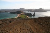 Bartolomé is famous for Pinnacle Rock, which is the most representative landmark of Galápagos