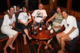 last night on the boat: Meeli, Fabian, Jane, Brian, Lisa and Maria