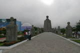 monument that straddles the equator called Mitad del Mundo or middle of the world