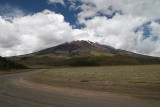 Cotopaxi has an almost symmetrical cone that rises from a highland plain of about 3,800 metres
