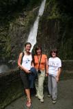 Meeli, Lisa, Jane at Pailon del Diablo waterfall