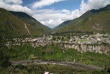 Baños is located on the northern foothills of the Tungurahua volcano