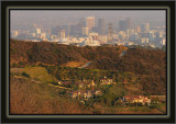 The Getty In The Middle - A Pre-Sunset Smokey Amber Light