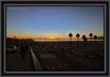Santa Monica Pier At Sunset