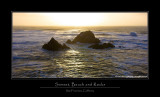 Sunset, Beach and Rocks