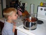 Boiling eggs for Easter