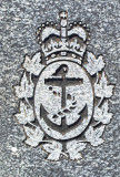 Footstone Detail - WWII Royal Canadian Navy Crest