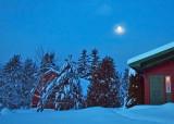 moonset and sunrise - Brenda