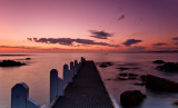 Jetty after sunset by Dennis
