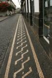 Sidewalk stone art