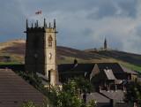 Lees Church and Hartshead Pike