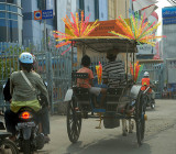 Horse drawn cart in central Jakarta