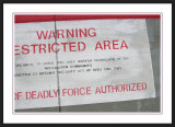 Military Restricted Sign