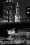 Chicago River Ice (b/w)