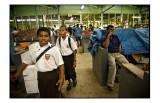 Schoolboys at the market