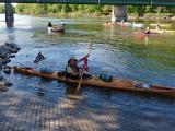 A good look at the kayak and John Craun, our super paddler