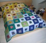 Finished quilt for Rachel & Shayne.