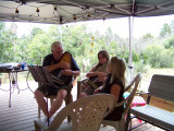 Making music with grandpa