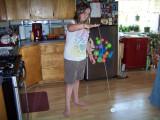 Taya learns the yo-yo