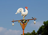 Lamppost with rooster