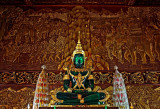 Image of the Buddha in green