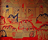 Mural of palace life