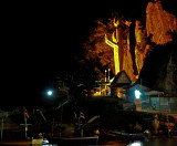 Khao Takiab Buddha at night