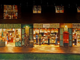 Mural: night scene of Plearnwan Vintage Village