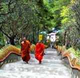 Monks arriving
